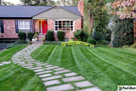Grounds Maintenance Lawn Mowing and Turf Care Arlington VA | Lush Lawn Resulting From PBLS Turf Program and Proper Mowing Practices