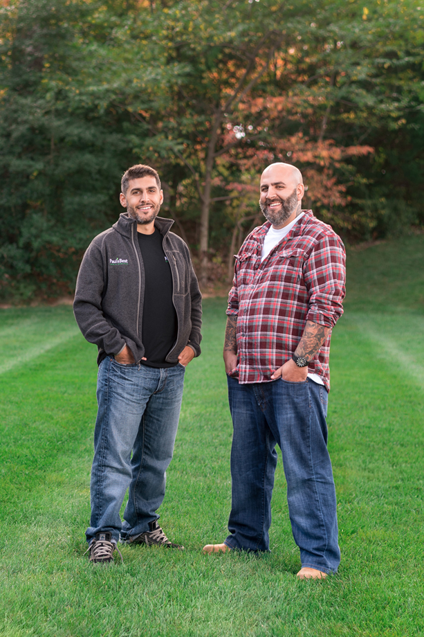 Paul's Best Lawn Service, Inc. Owners Jay & Tim Lo Monaco at a client's property in McLean, VA