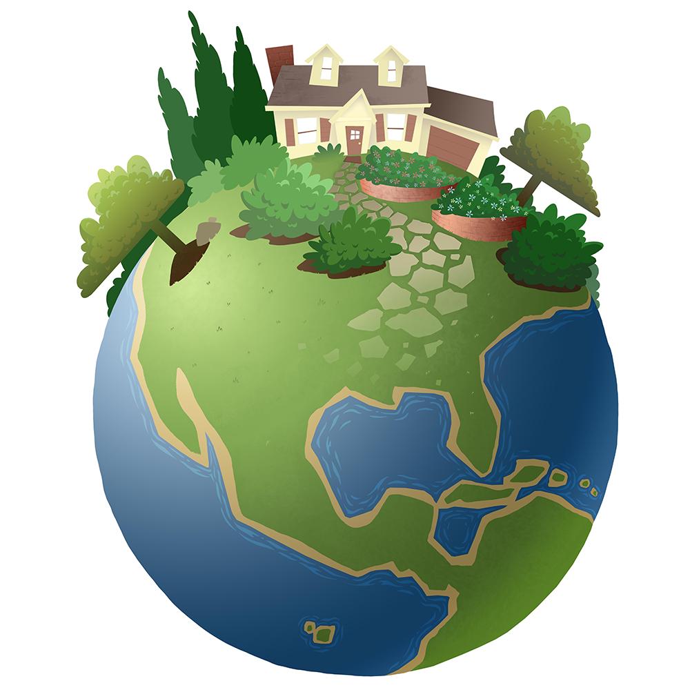 Paul's Best Lawn Service Globe Logo